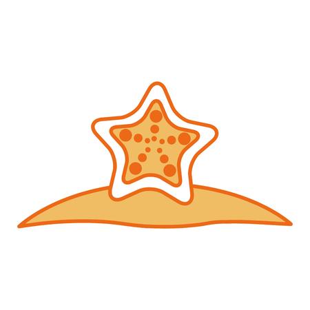 starfish tropical summer icon vector illustration design Stock fotó - 80241342