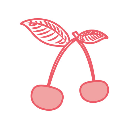 cherry tropical and exotic fruit vector illustration design Ilustração