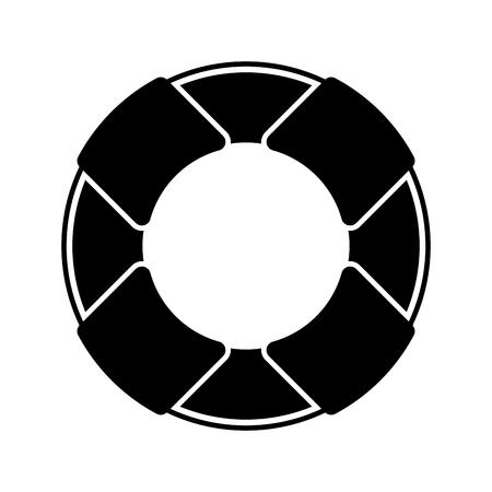 Float bagnino isolato icona illustrazione vettoriale progettazione Archivio Fotografico - 80240690