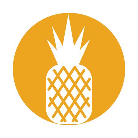 pineapple tropical and exotic fruit vector illustration design Ilustração