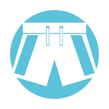 male Swimwear isolated icon vector illustration design Stock fotó - 80253339
