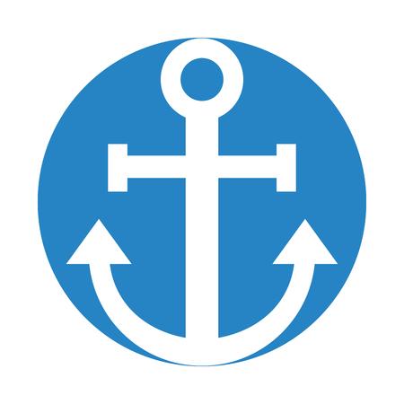 Vela ancoraggio isolato icona illustrazione vettoriale illustrazione Archivio Fotografico - 80253340