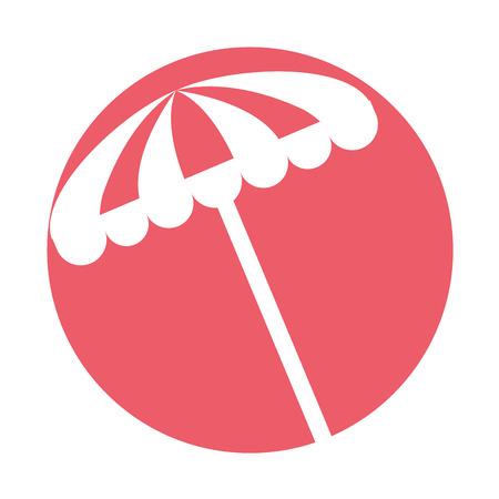 Strand paraplu zomer pictogram vector illustratie ontwerp Stock Illustratie