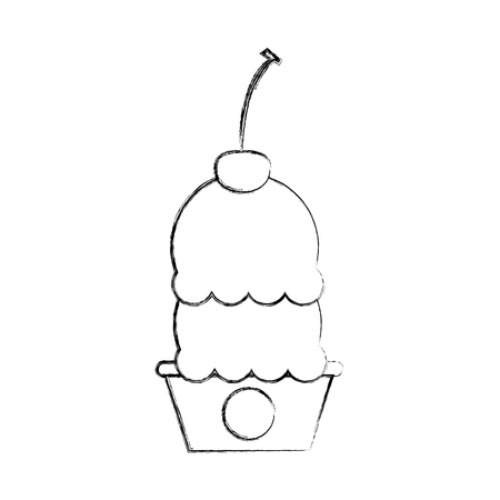 cupcakes isolated: cup cake sweet icon vector illustration design Illustration