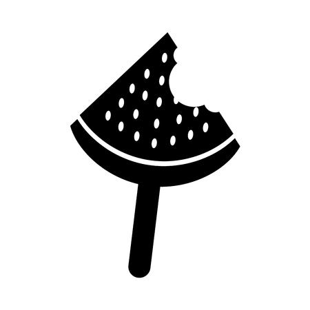 ice cream watermelon icon vector illustration design