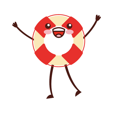 float lifeguard  character vector illustration design
