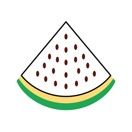 watermelon tropical and exotic fruit vector illustration design