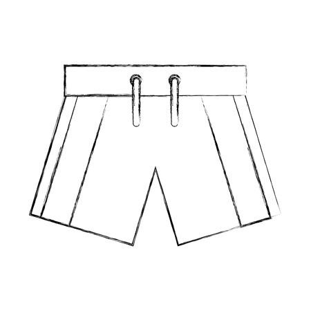 Mannelijke Badmode geïsoleerde pictogram vector illustratie ontwerp Stock Illustratie