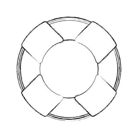Float bagnino isolato icona illustrazione vettoriale progettazione Archivio Fotografico - 80258546