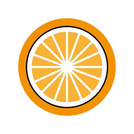 오렌지 열대와 이국적인 과일 벡터 일러스트 레이션 디자인