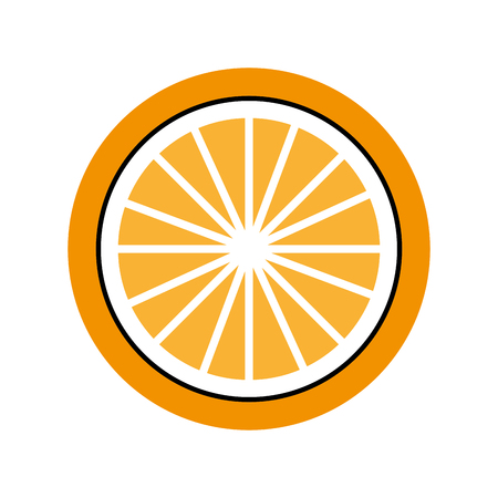 orange tropical and exotic fruit vector illustration design Illusztráció