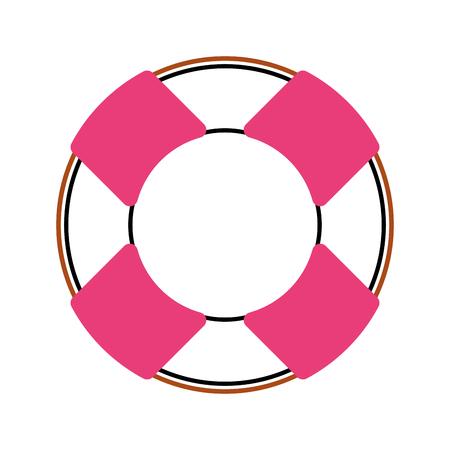 Float bagnino isolato icona illustrazione vettoriale progettazione Archivio Fotografico - 80258482