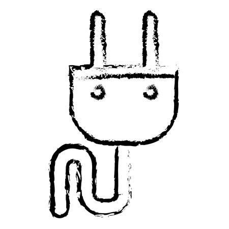energie plug geïsoleerde pictogram vectorillustratieontwerp