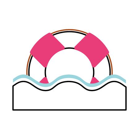 Float bagnino isolato icona illustrazione vettoriale di progettazione Archivio Fotografico - 80254185