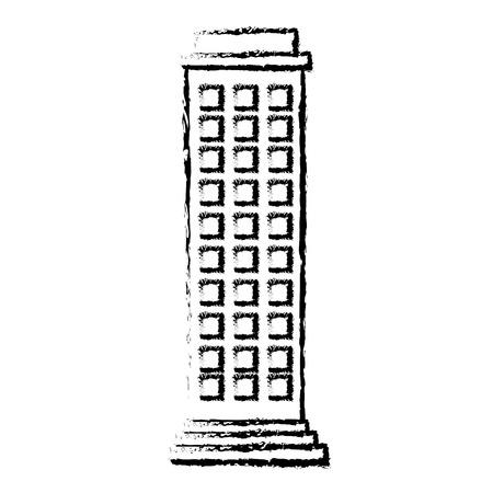 Edifici paesaggio urbano isolato icona illustrazione vettoriale di progettazione Archivio Fotografico - 80254208