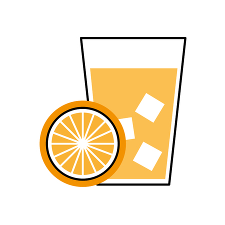 enjoyment: lemon juice tropical fruit beverage vector illustration design Illustration