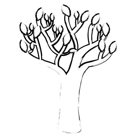 autumn tree plant isolated icon vector illustration design Illusztráció