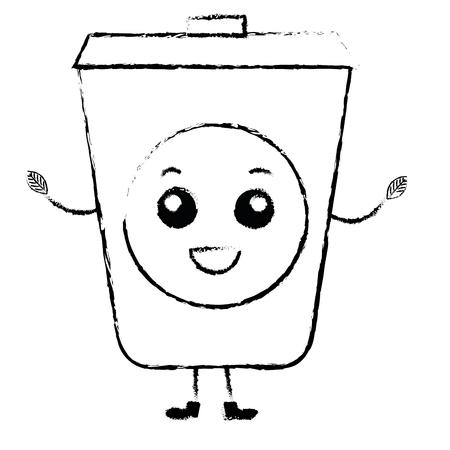 Ökologie Recycling bin Charakter Vektor-Illustration Design