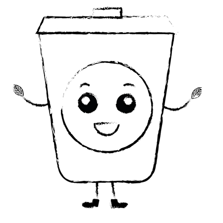 ecology recycle bin character vector illustration design 向量圖像