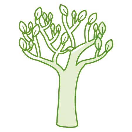 autumn tree plant isolated icon vector illustration design 向量圖像