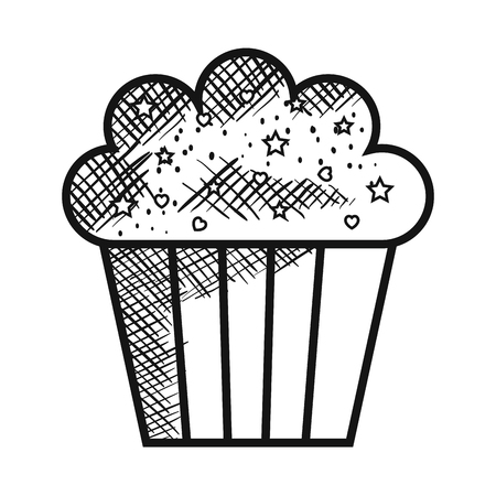 delicious and sweet cupcake vector illustration design Ilustração