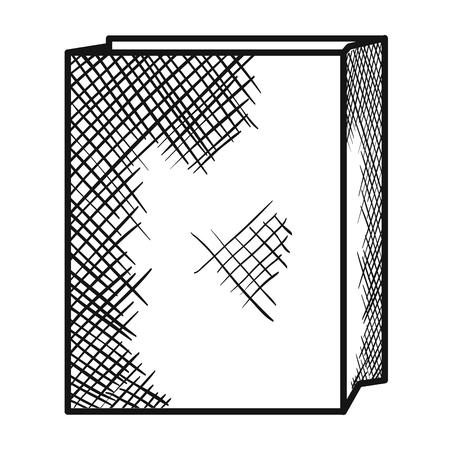 Paper bag for bread vector illustration design Stock Photo