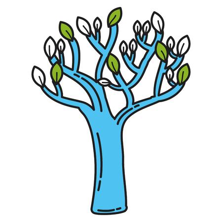 autumn tree plant isolated icon vector illustration design Stock fotó