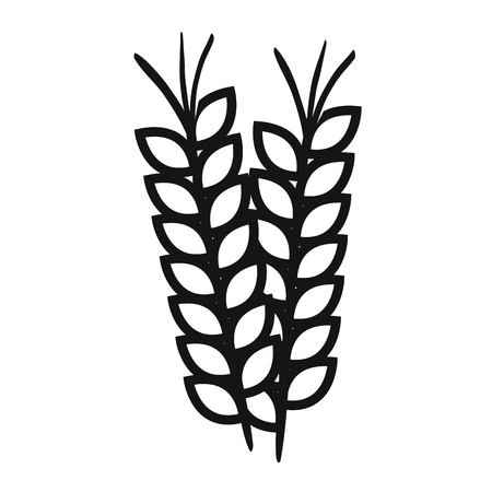wheat spike isolated icon vector illustration design Stock Photo