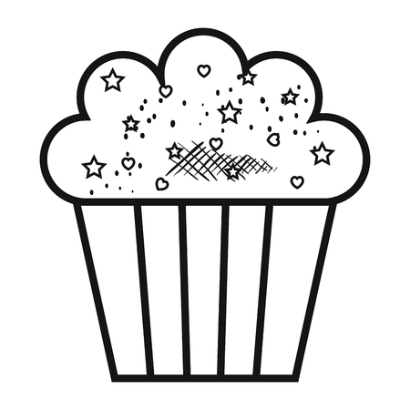 cupcakes isolated: delicious and sweet cupcake vector illustration design Illustration