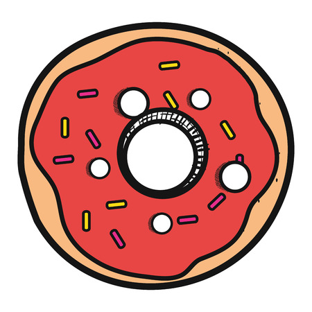 delicious sweet donut icon vector illustration design