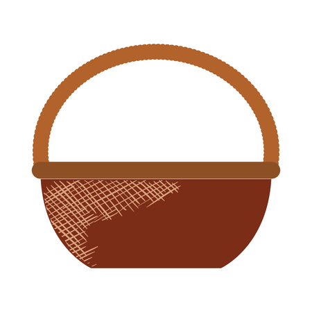 Straw basket isolated icon vector illustration design Illustration