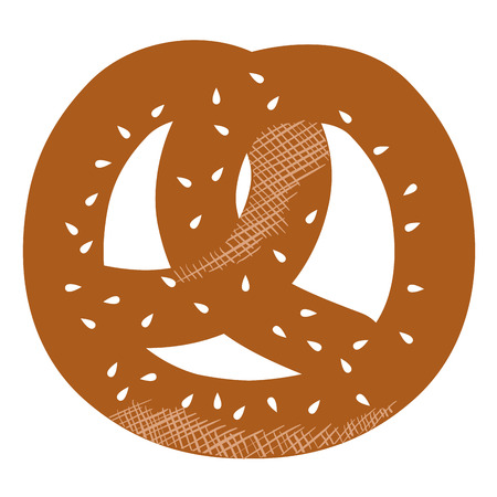delicious pretzel isolated icon vector illustration design 向量圖像
