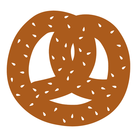 delicious pretzel isolated icon vector illustration design Illustration
