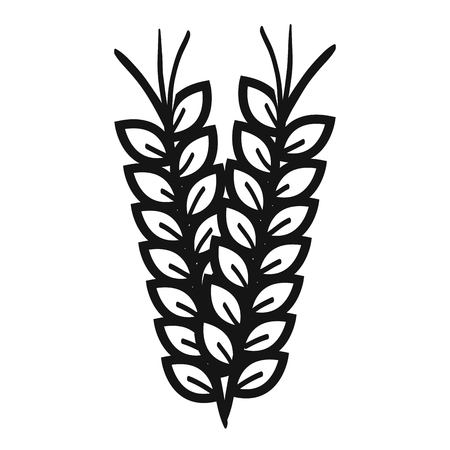 wheat spike isolated icon vector illustration design 向量圖像