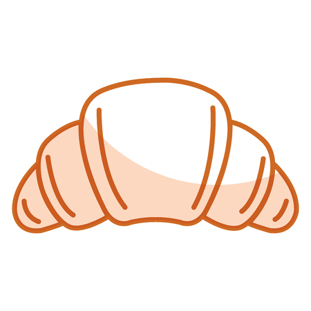 delicious croissant bread icon vector illustration design