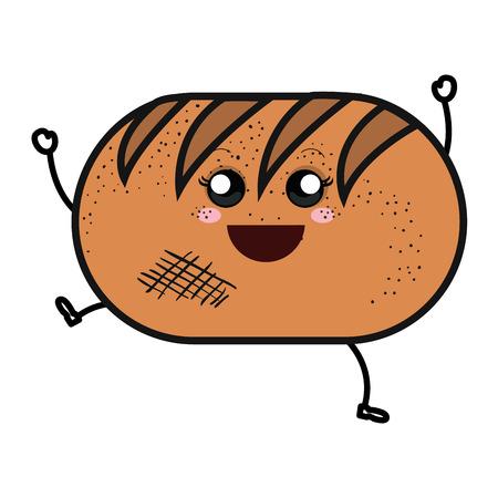 delicious bread isolated  character vector illustration design Illusztráció