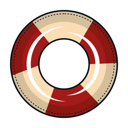 Float bagnino isolato icona illustrazione vettoriale progettazione Archivio Fotografico - 80258410