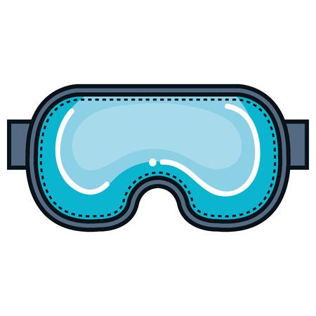 Un gogles de buceo aislado icono de diseño de ilustración vectorial