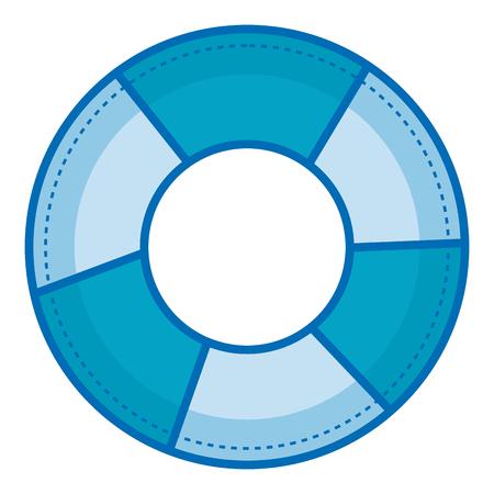 Float bagnino isolato icona illustrazione vettoriale progettazione Archivio Fotografico - 80258366