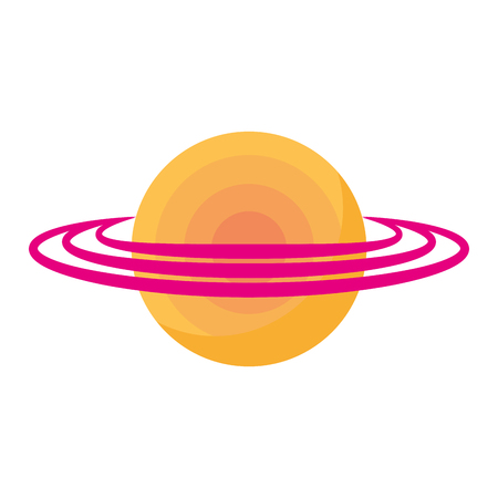 A saturn planet isolated icon vector illustration design Illustration