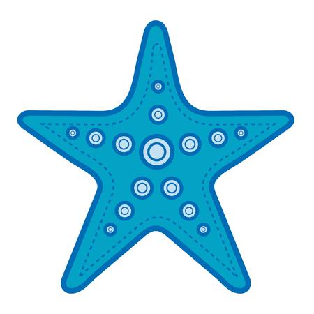 A starfish tropical summer icon vector illustration design