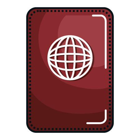 여권 문서 격리 된 아이콘 벡터 일러스트 레이 션 디자인 스톡 콘텐츠 - 80243296