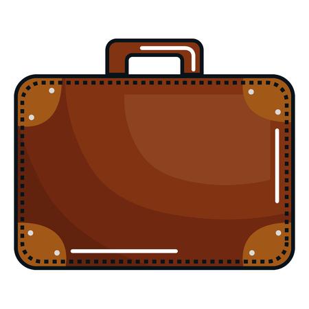 koffer reizen geïsoleerd pictogram vector illustratie ontwerp