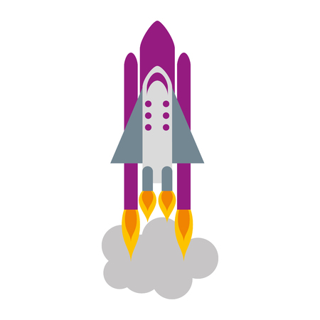 rocket space isolated icon vector illustration design Stock Vector - 80243303