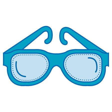 diving googles isolated icon vector illustration design Illustration