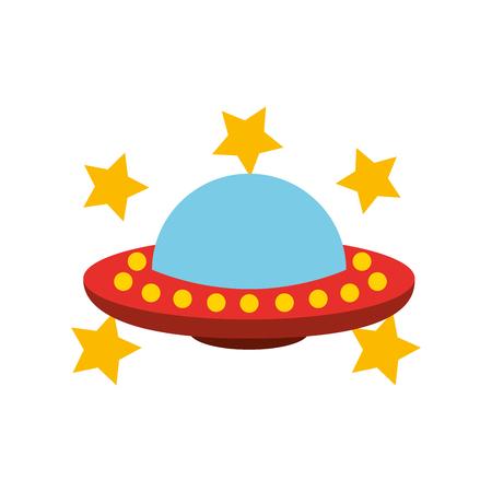 Oggetto volante non identificato con stelle Archivio Fotografico - 80257357