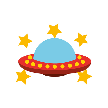 Unidentified flying object with stars Illustration