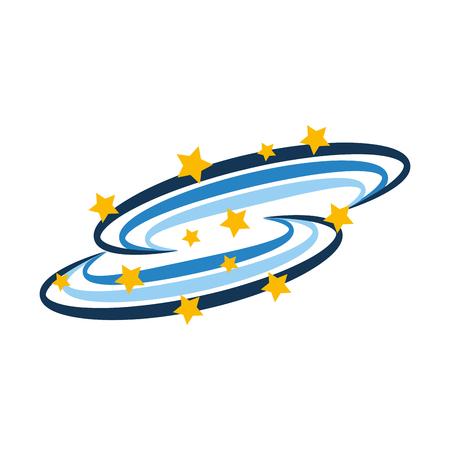 universe Milky Way background vector illustration design