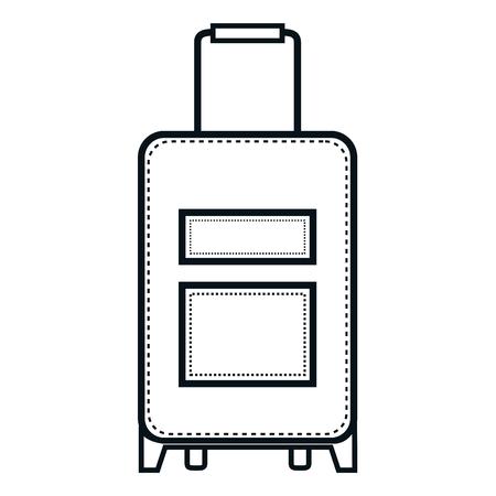 Koffer reizen geïsoleerd pictogram vector illustratie ontwerp Stock Illustratie