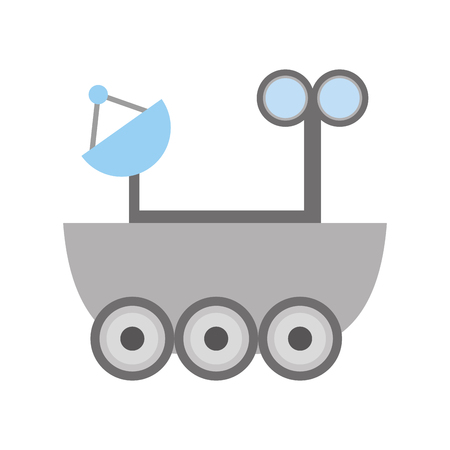 propulsion: Space explorer car icon vector illustration design Illustration